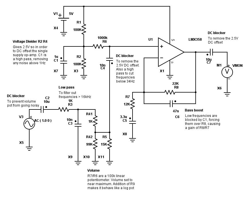 Astonishing Bass Boost Battery Operated Op Amp Circuit Wiring Database Denligelartorg