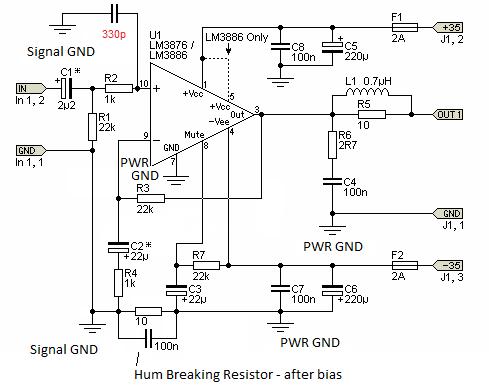 Hi-Fi 5 1 amplifier - Grounding